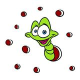 Worm insect animal cartoon Stock Images