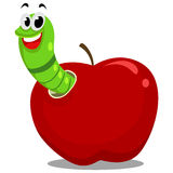 Worm inside the Apple Stock Photography