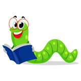 Worm Reading Book Stock Images