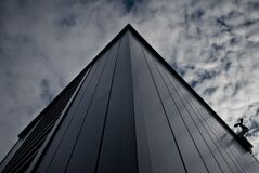Worm's Eye View of Building Under White Cloudy Sky Stock Photography