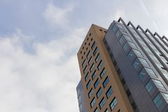 Worm's-eye View of High Rise Building Under White Sky Royalty Free Stock Photo