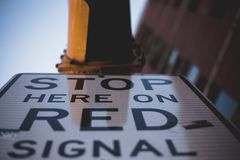 Worm's-eye View Photography Of Stop Signage royalty free stock photography