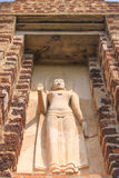 Worm's Eye View Of standing buddha, Thailand. Old standing buddha in Thailand Royalty Free Stock Photo