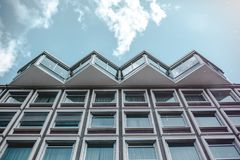 Worm's-eye View of White Building Royalty Free Stock Images
