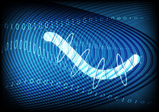 Worm Traffic Technology Blue Background Royalty Free Stock Images