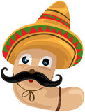 Worm With Sombrero Royalty Free Stock Photography