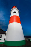 Worm's Eye View of Colourful Souter Lighthouse Royalty Free Stock Photography