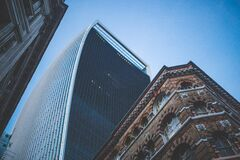 Worm's Eye View of Buildings during Daytime Royalty Free Stock Photo