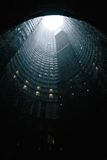 Worm's Eye View of Cylindrical Building Royalty Free Stock Photo