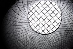 Worm's Eye of White and Black Inside Basket Stock Photography
