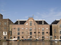 Wormer. Historic buildings along the river Zaan, the Netherlands Stock Photo