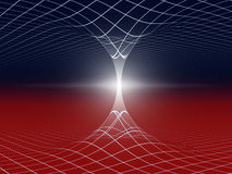 Wormhole abstract illustration Royalty Free Stock Image