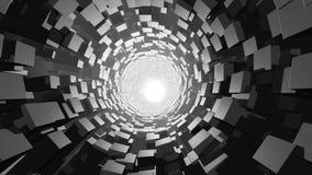 Wormhole abstrato do cubo ilustração do vetor