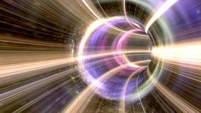 Wormhole animado a través del espacio stock de ilustración