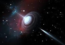 Wormhole. Black hole or wormhole, illustration Royalty Free Stock Photography