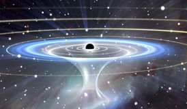 Wormhole or blackhole, funnel-shaped tunnel that can connect one universe with another Royalty Free Stock Photos