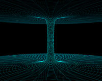 Wormhole model. Illustration of the meshy wormhole model Royalty Free Stock Photography