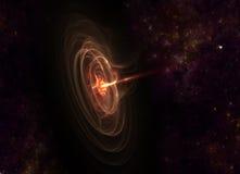 Wormhole op Starfield Royalty-vrije Stock Afbeeldingen