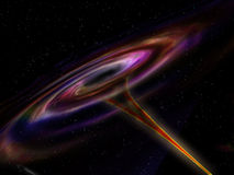Wormhole in Outer Space. Illustration of a wormhole ripping its way through outer space Royalty Free Stock Images