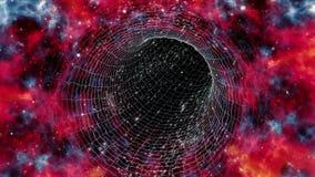 Wormhole podróż zapętlająca w przesuwających kolorach ilustracji