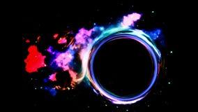 Wormhole in ruimte Stock Foto