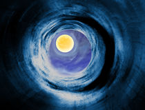 Wormhole to the alien planet Stock Photo