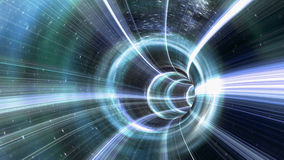Wormhole tunnel. An image of a wormhole. The futuristic tunnel has a bright light at the end vector illustration