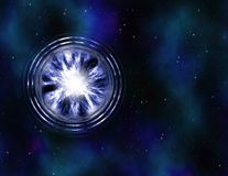 Wormhole vortex in space Royalty Free Stock Image