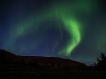 Northern light. Aka aurora borealis in southern Iceland Stock Image
