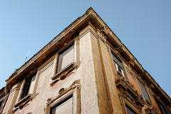 Worms Eye View of Brown Building Stock Photos