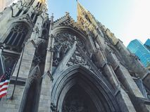 Worms Eye View of Cathedral Royalty Free Stock Photography