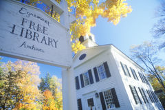 Worms eye view of Egremont library,  MA Stock Photo