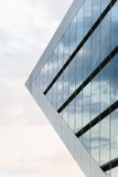 Worms Eye View of Glass Pyramid Building Stock Images