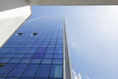 Worms eye view of the Isozaki gate. Stock Images