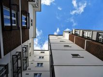 Worms Eyeview Photography of White and Brown Buildings Royalty Free Stock Photo