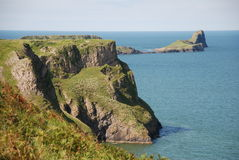 Worms Head Cliffs Royalty Free Stock Photo
