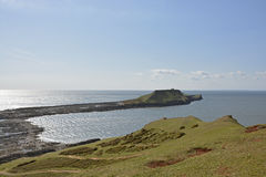 Worms Head on Gower Peninsular, Wales, UK Stock Image