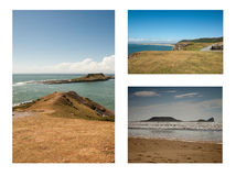 The Worms Head, Rhossili Bay Royalty Free Stock Photos