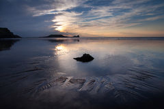 Worms Head rockpool Stock Images