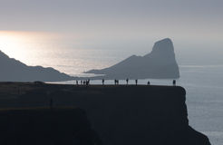 Worms Head tourists Stock Photos