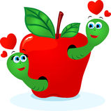 Worms in love Stock Photo