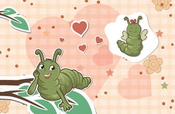 Worms in love Royalty Free Stock Photo
