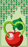Worms in Love. Abstract background with two worms in love Royalty Free Stock Images