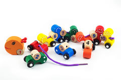 Worms train. Children toy for brain, Brain development, Skills Preschool Royalty Free Stock Images