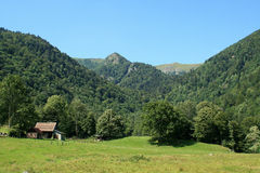 Wormsa valley in Alsace. Classified site in the Valley of Munster in Alsace Stock Photo