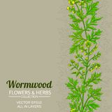 Wormwood vector background. Wormwood vector pattern on color background vector illustration