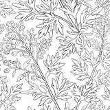 Wormwood vector pattern. On whte background royalty free illustration