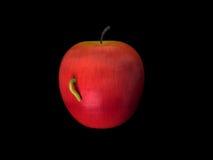 wormy äpple Royaltyfri Fotografi