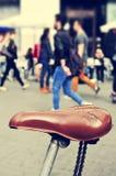 Worn-вне велосипед в Барселоне, Испании, с фильтрованным влиянием Стоковое фото RF