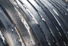 Worn гальванизированный кульверт нержавеющей стали Стоковое фото RF